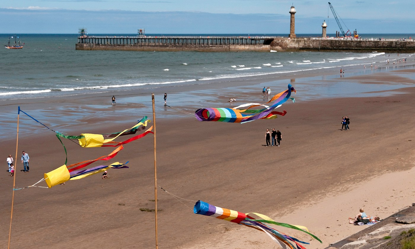 Windsocks on Whitby Beach
