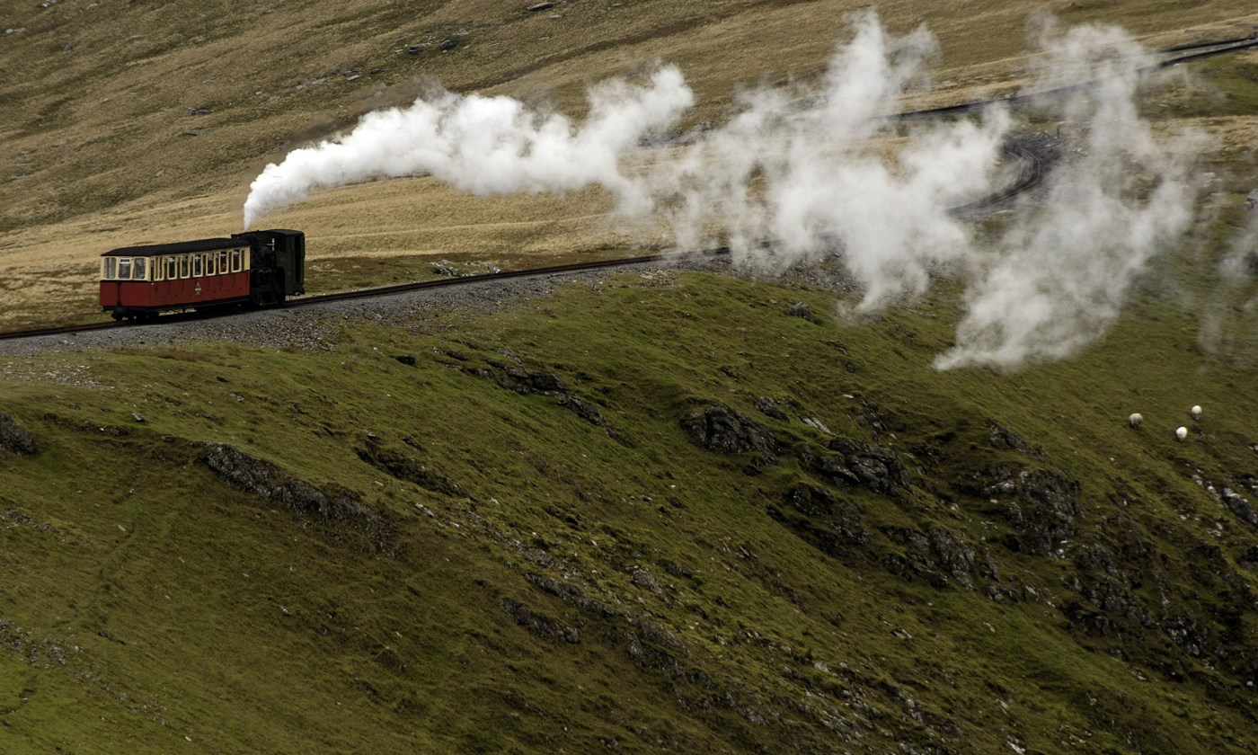 Mountain Steam Train on Snowdon