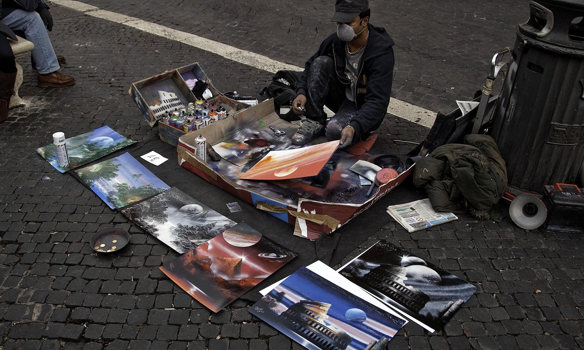 Spray Paint Artist in the Street