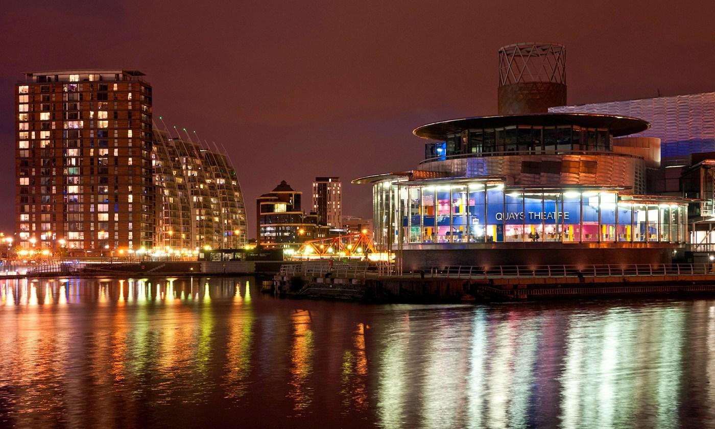 Quays Theatre at Night