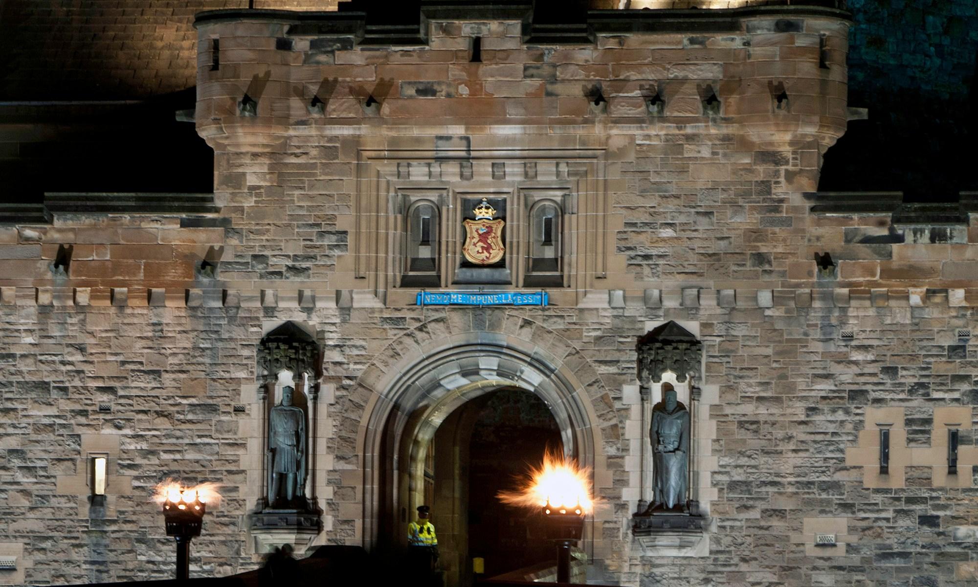Edinburgh Castle Entrance at Night