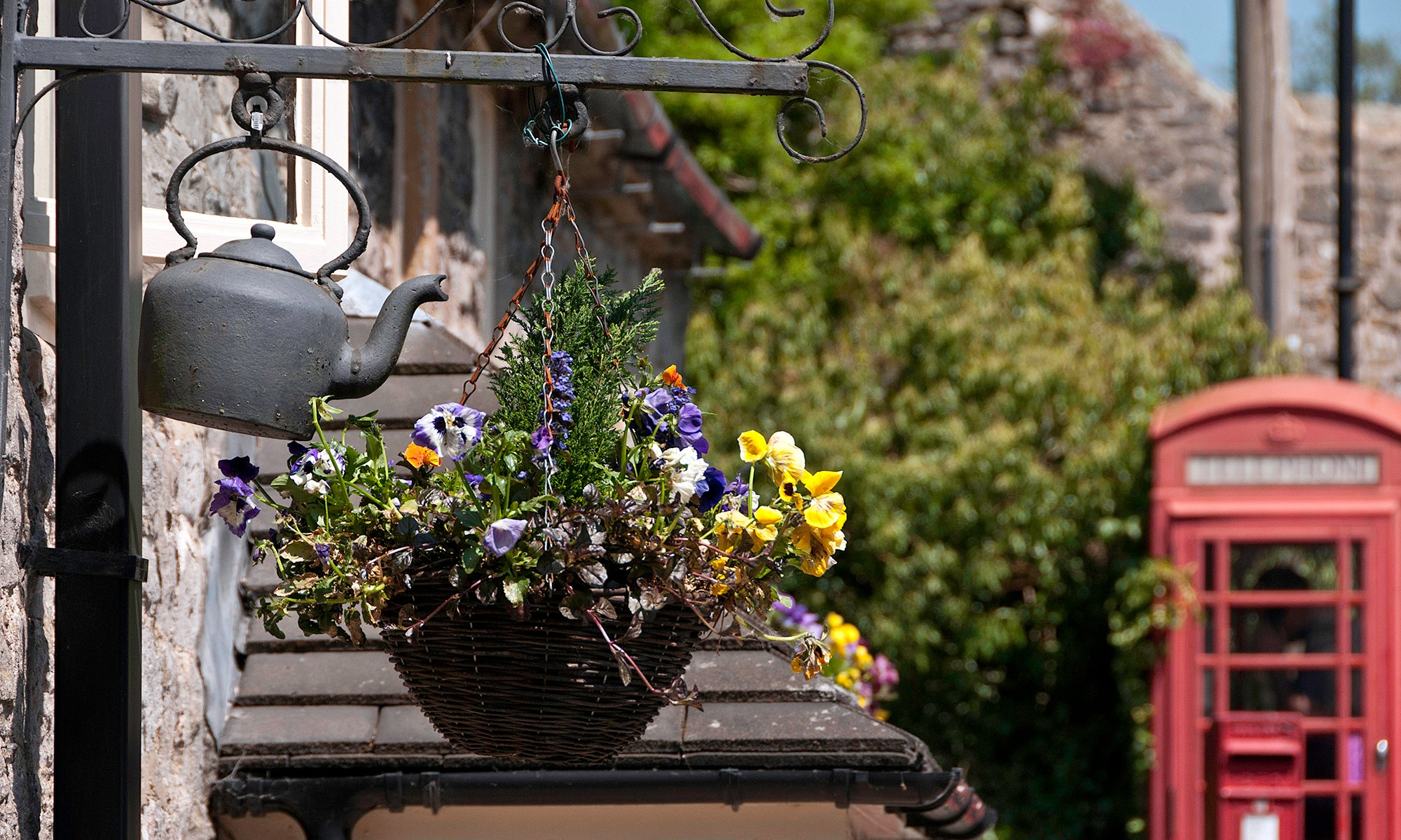 Kettle and Hanging Basket