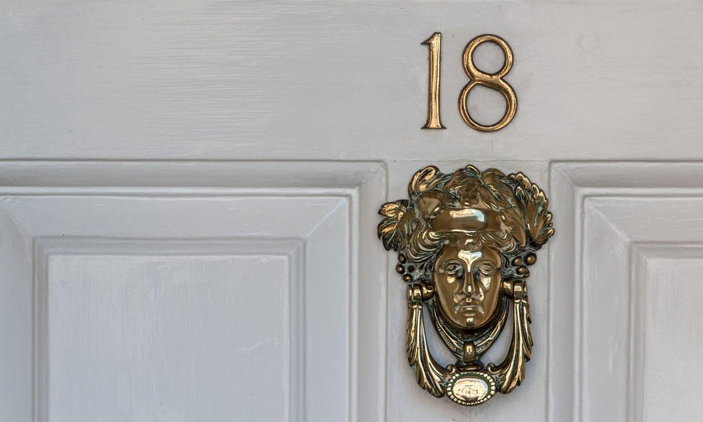 Number 18 - Brass Door Knocker