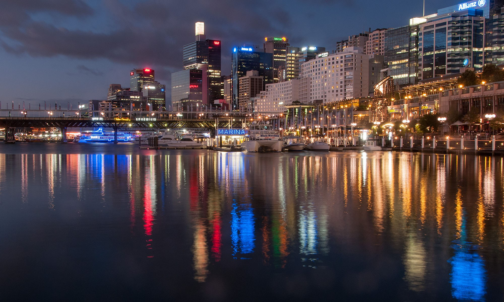 Darling Harbour Marina at Night