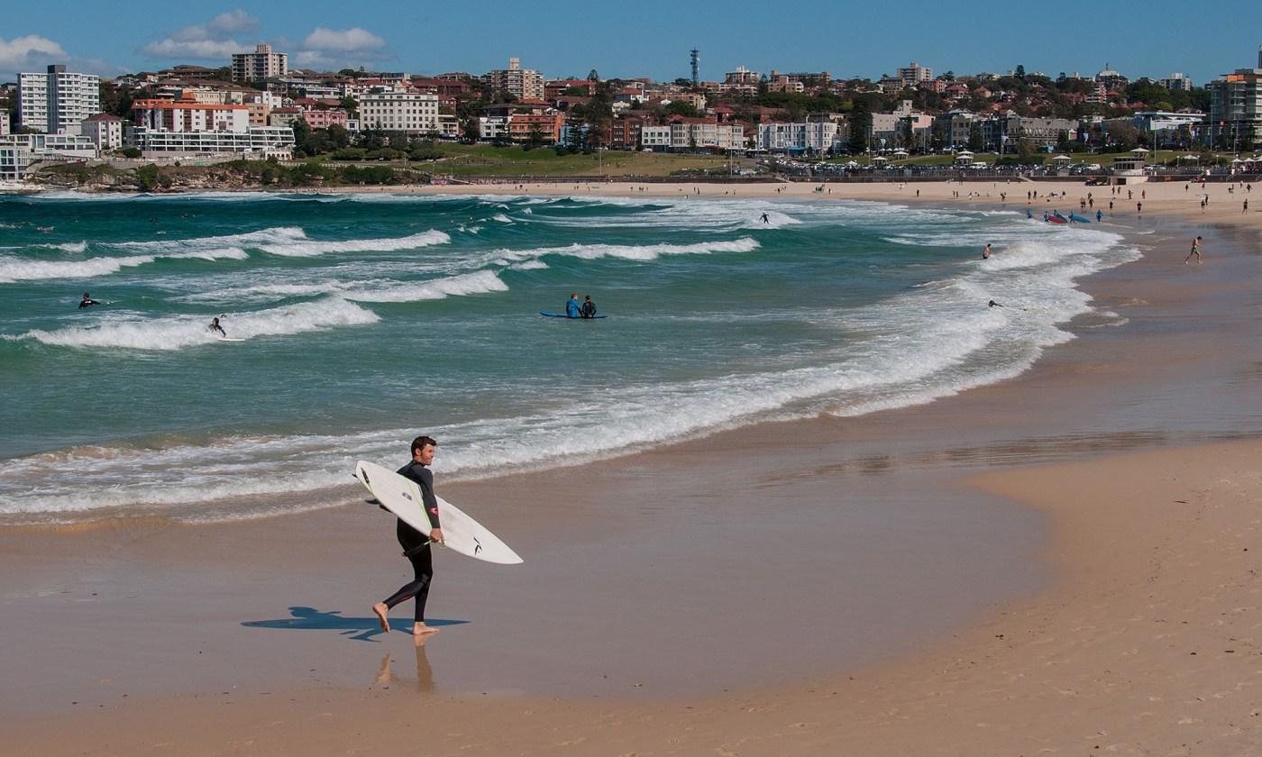 Surfer on Bondi Beach