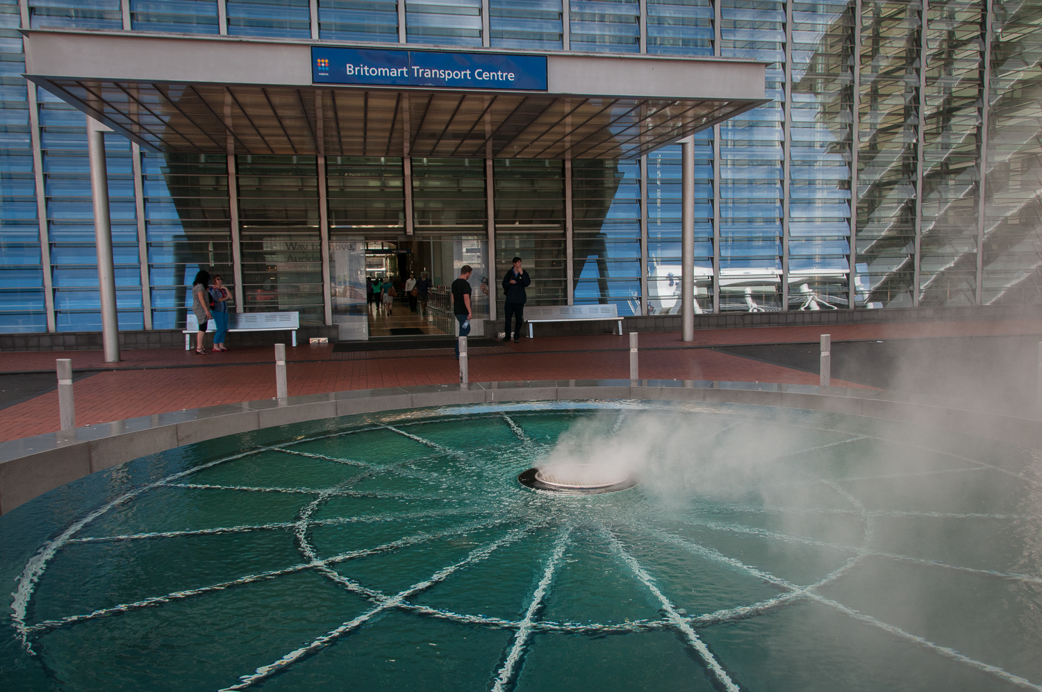 Fountain outside Britomart