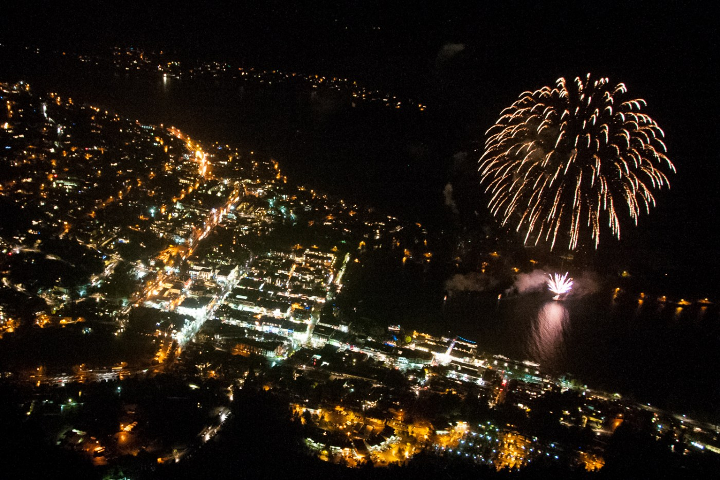 Fireworks over Queenstown