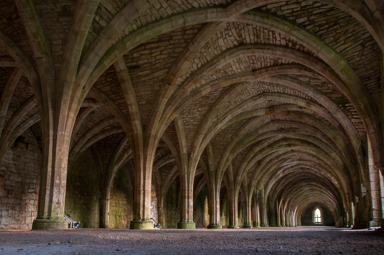 Inside Fountains Abbey
