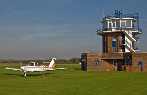 Plane and Control Tower, Barton Airport