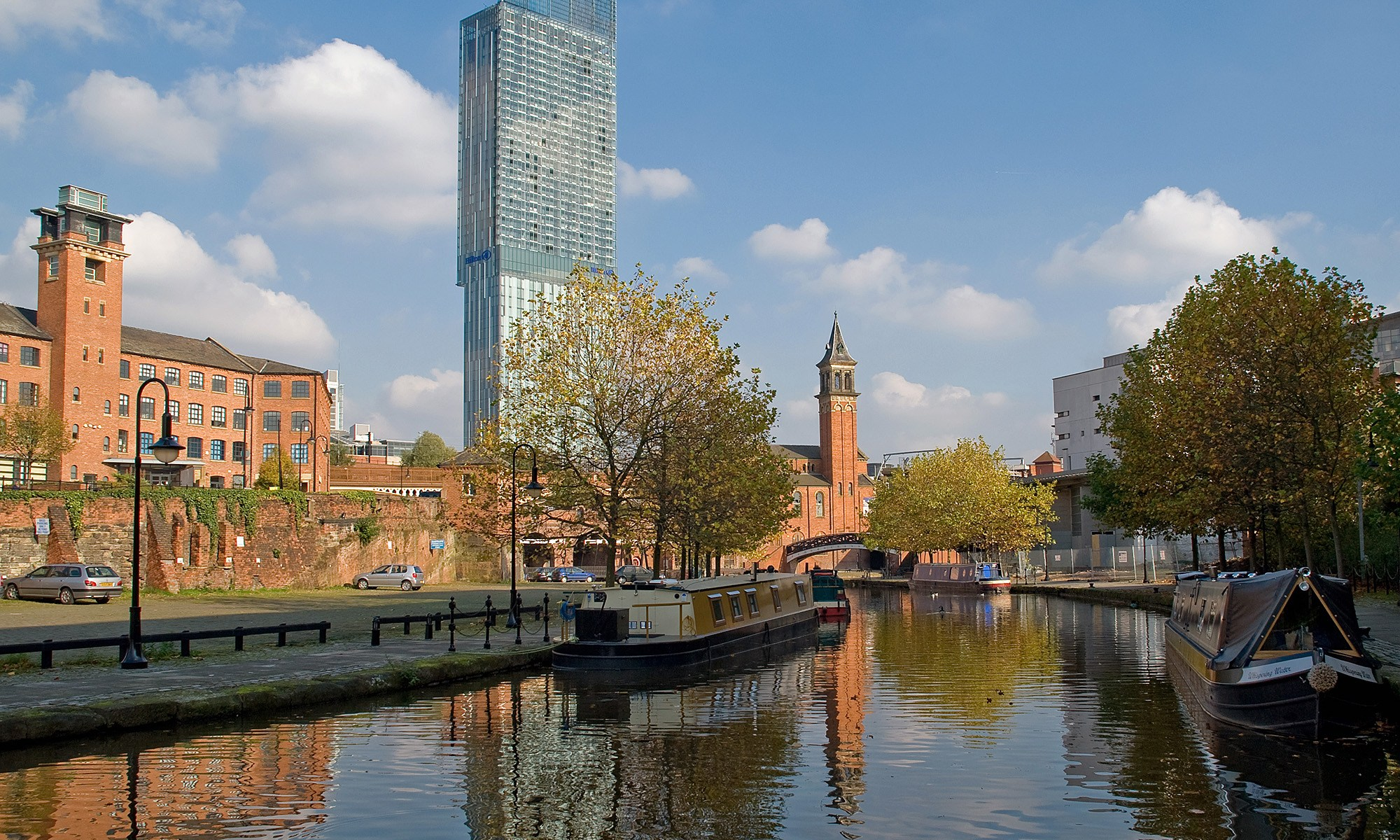 Canal at Castlefield, with Beetham Tower
