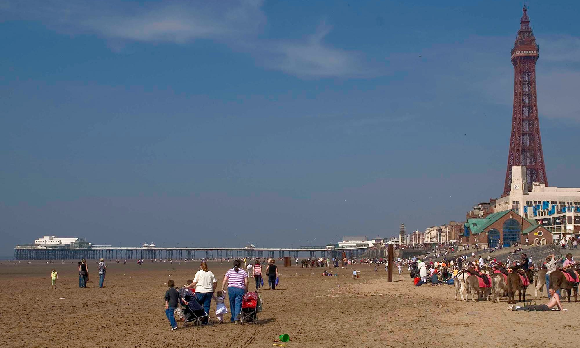 Blackpool Beach, North Pier and Tower
