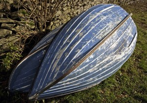 Blue boat hull textures