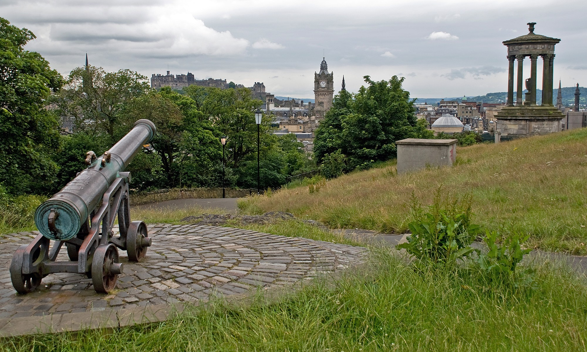 Calton Hill Cannon and Monument, Edinburgh