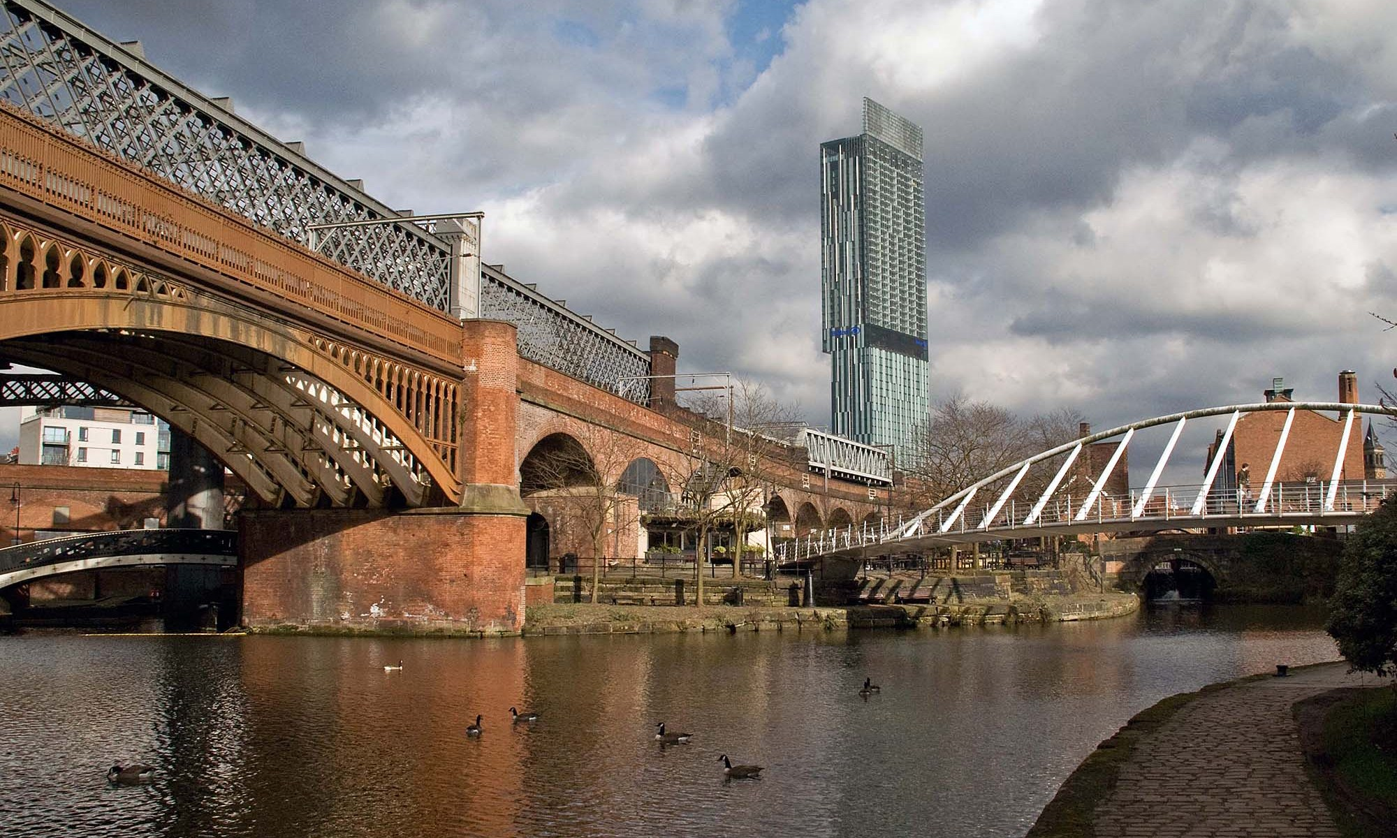 Castlefield Bridges and Beetham Tower, Manchester