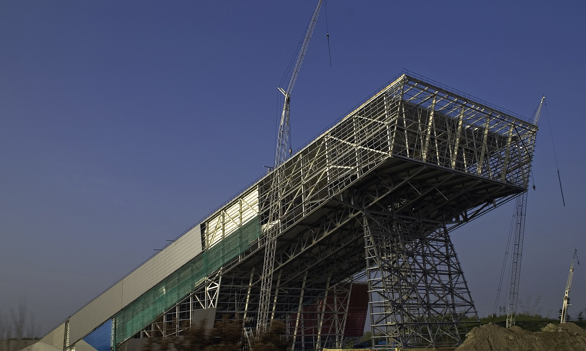 Construction of the Chill Factore Ski Slope