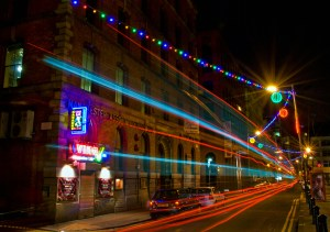 China Town Light Trails, Manchester