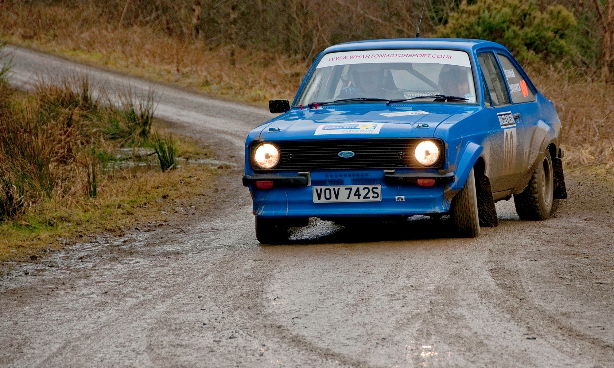 Classic Ford Escort at Malcolm Wilson Rally