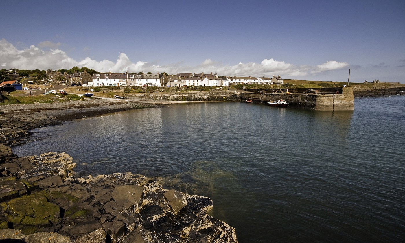Craster Harbour wide angle