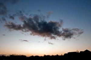 Dark Cloud in Dusk Sky