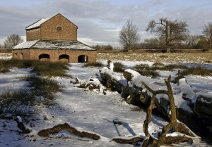 Deer Barn at Dunham Massey in the Snow