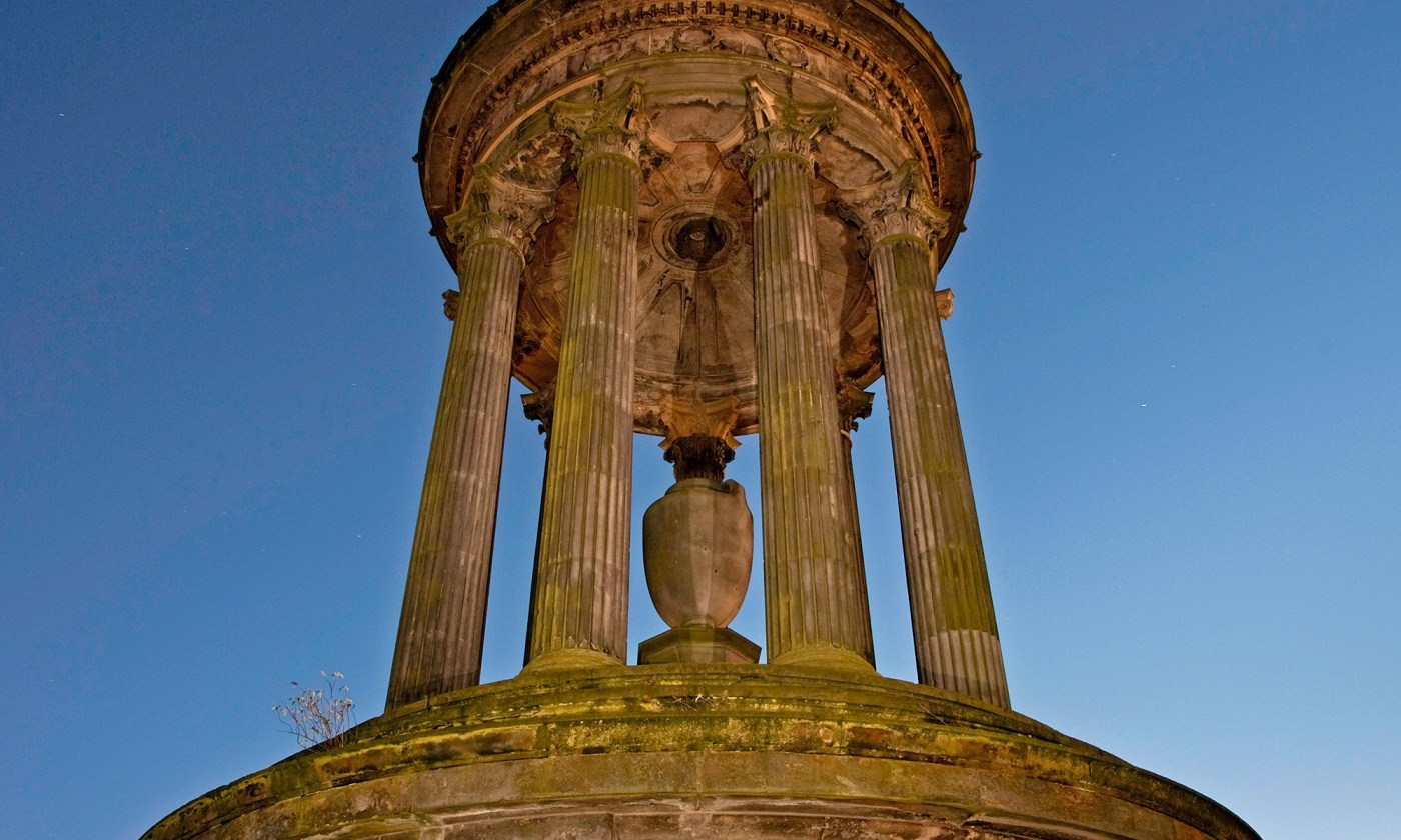 Dugald Stewart Monument at Dusk