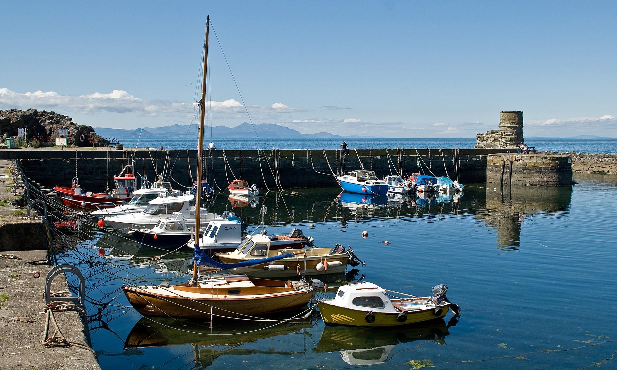 Dunure Harbour, West Coast Scotland