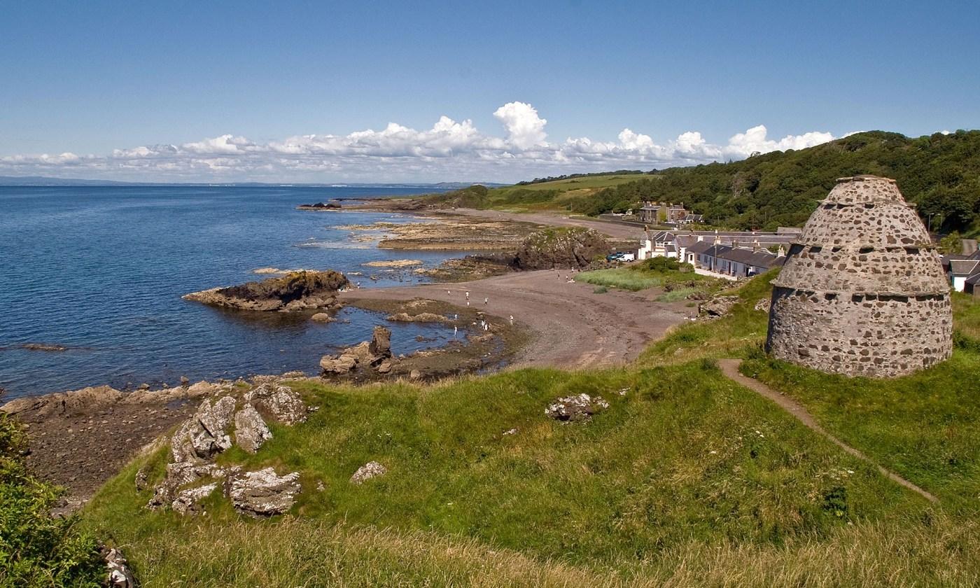 Village of Dunure on the West Coast of Scotland