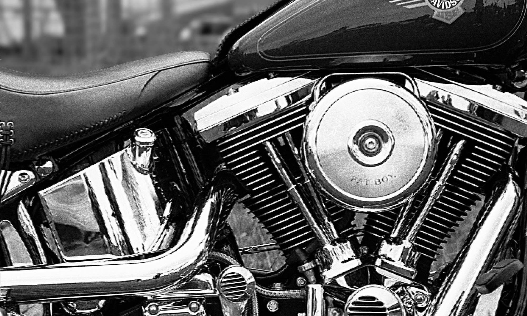 Fat Boy Harley Davidson Motorbike