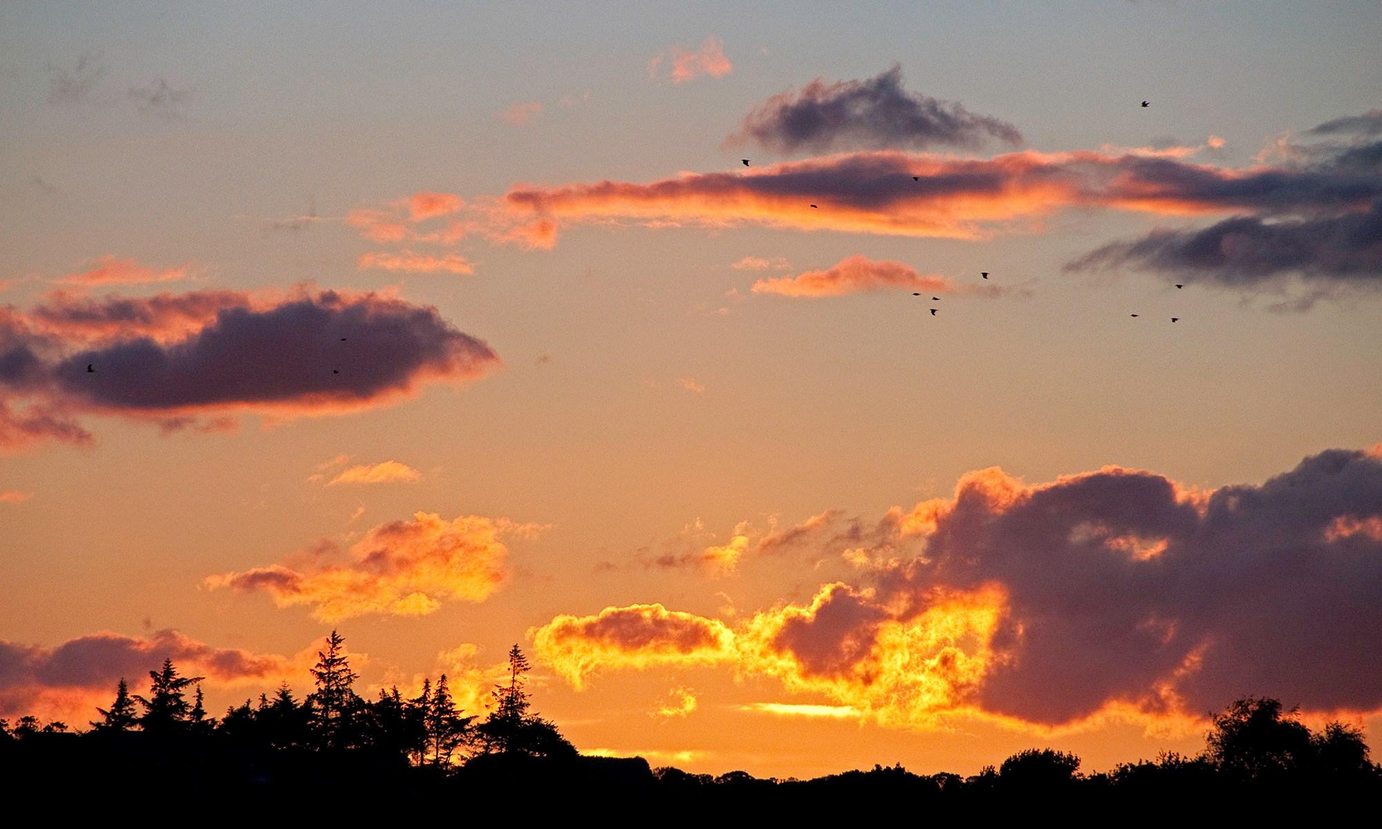 Fiery Sunset over Northumberland