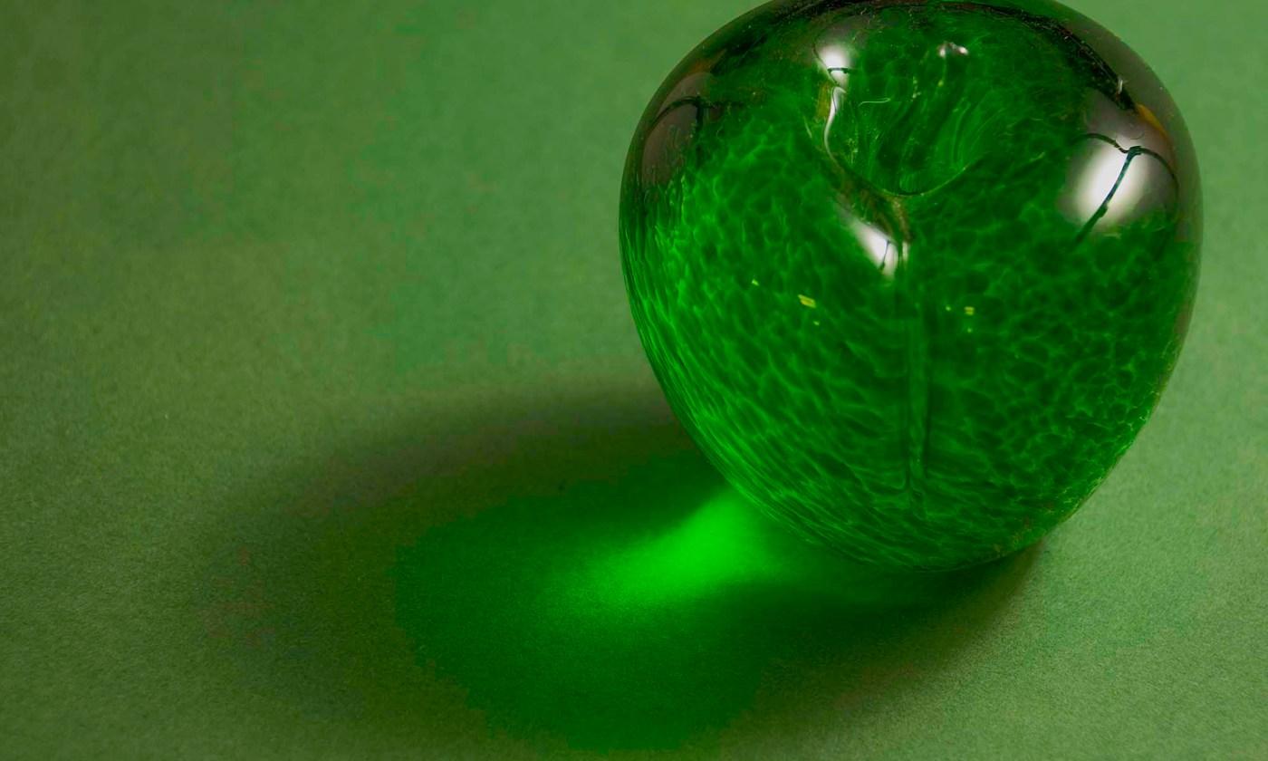 Green Apple - Glass Ornament