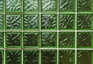 Green Glass Brick Pattern