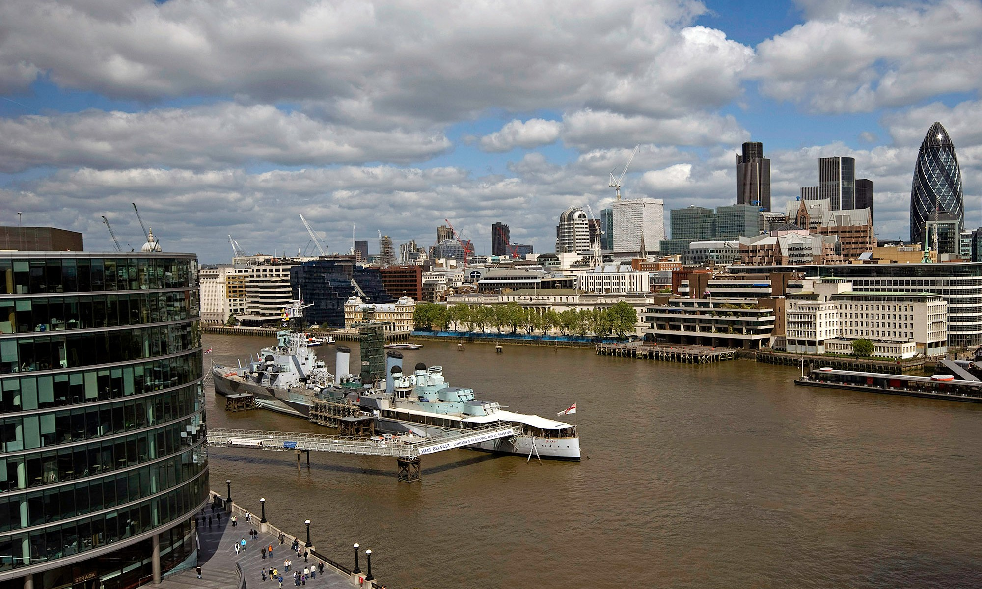 HMS Belfast on the River Thames