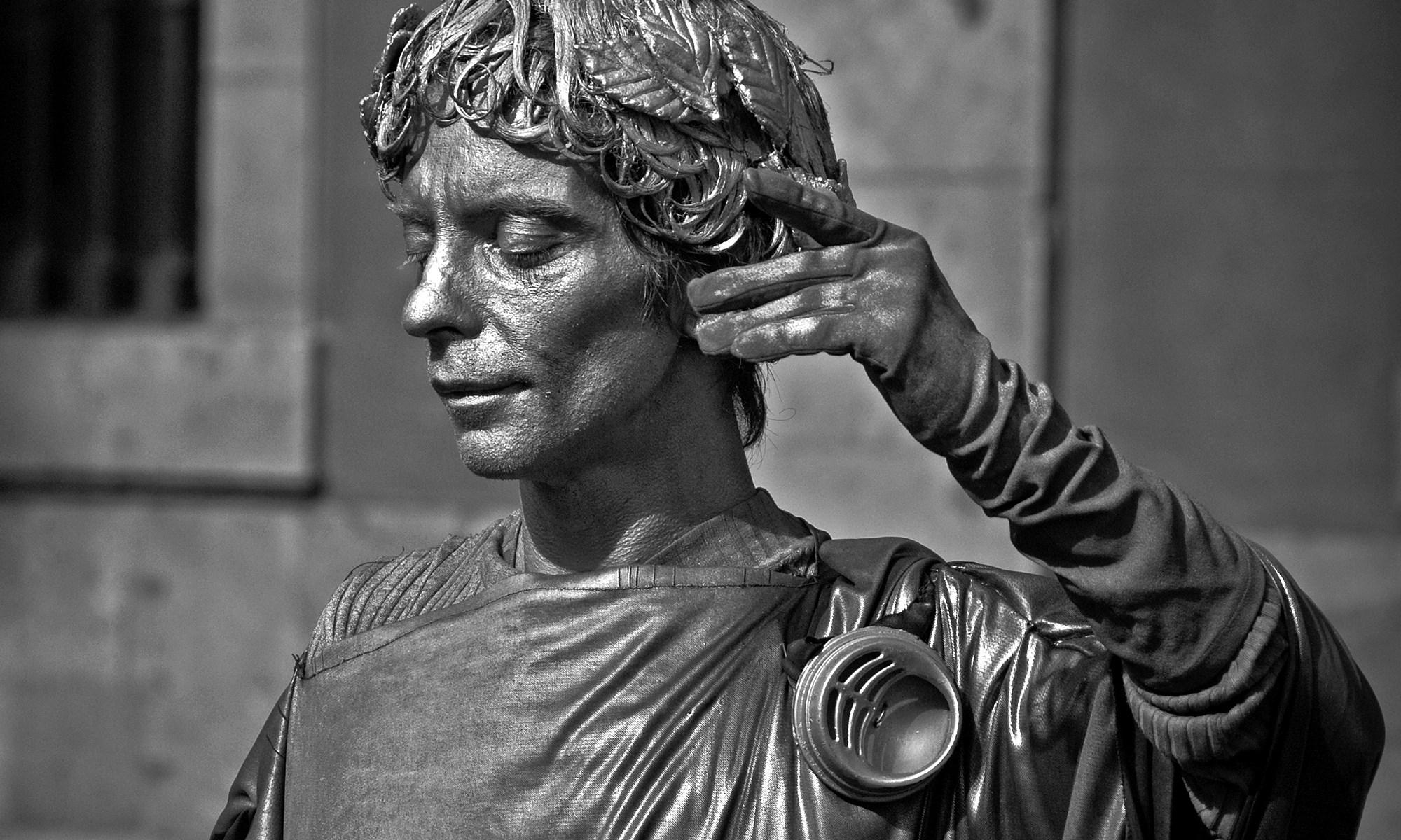 Human Statue on La Rambla, Barcelona