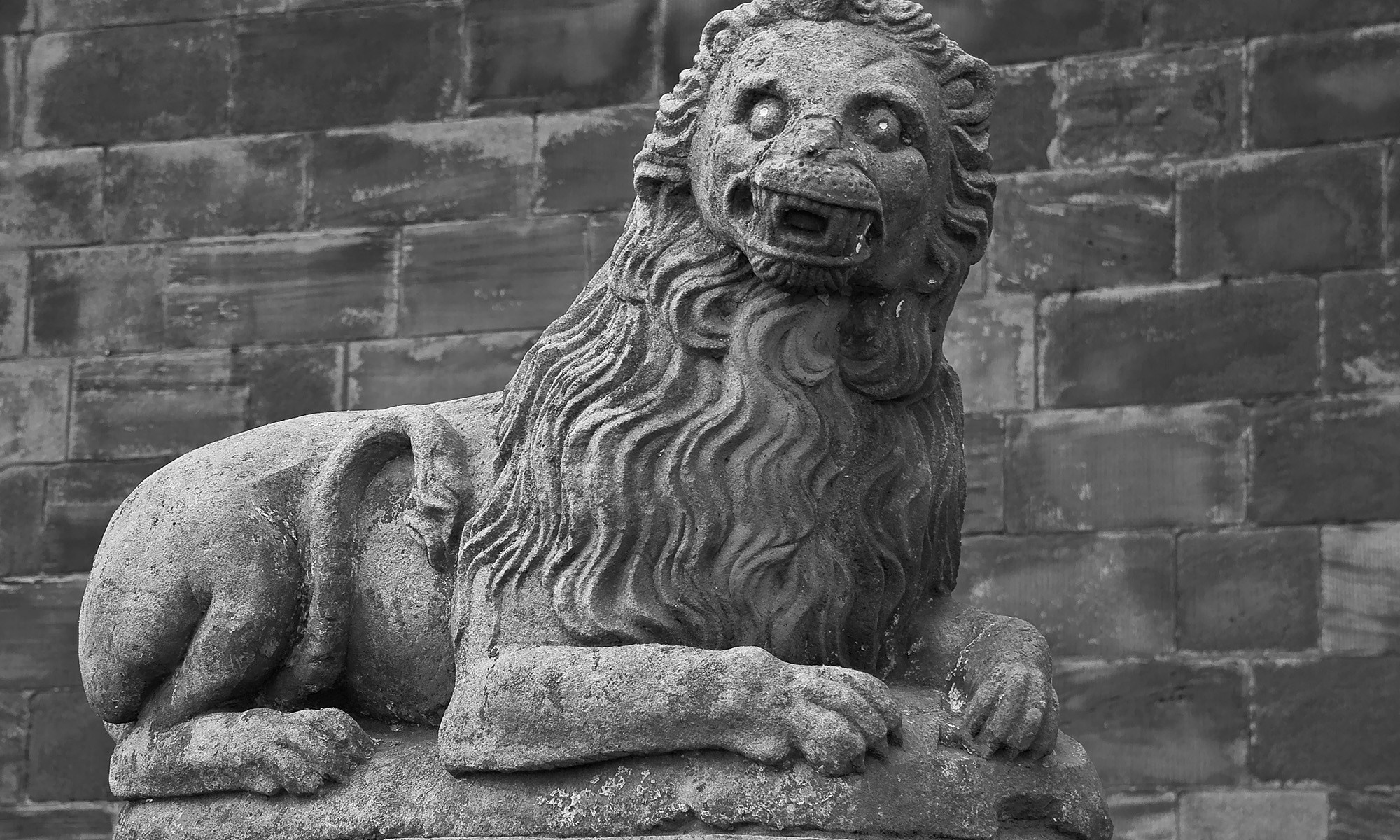 Lowry Lion Statue at Berwick-upon-Tweed