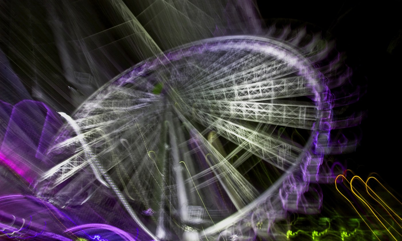 Manchester Wheel abstract at night