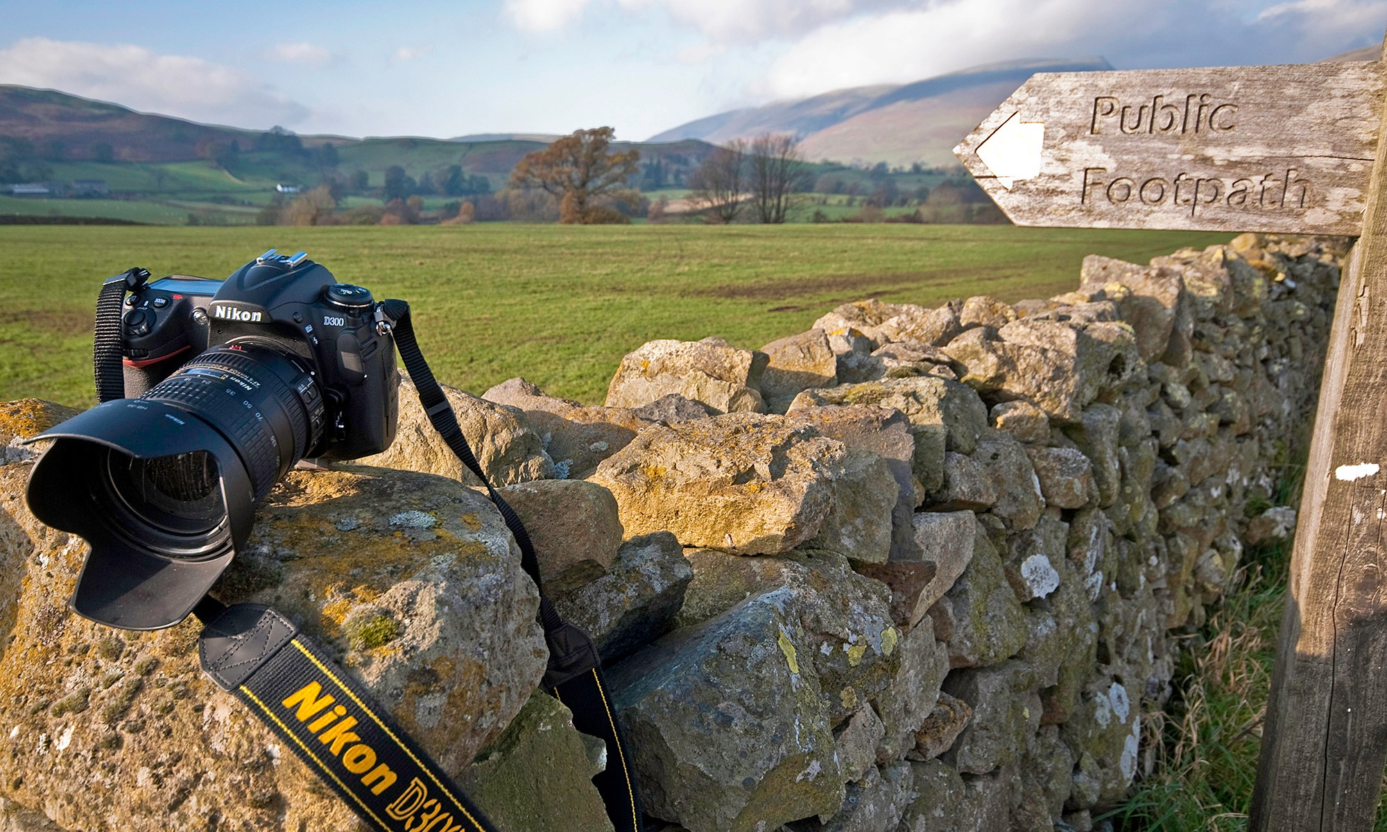 Nikon D300 on Dry Stone Wall