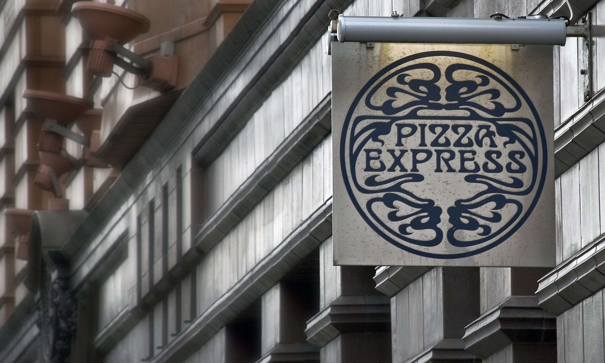 Pizza Express Sign, Peter Street, Manchester