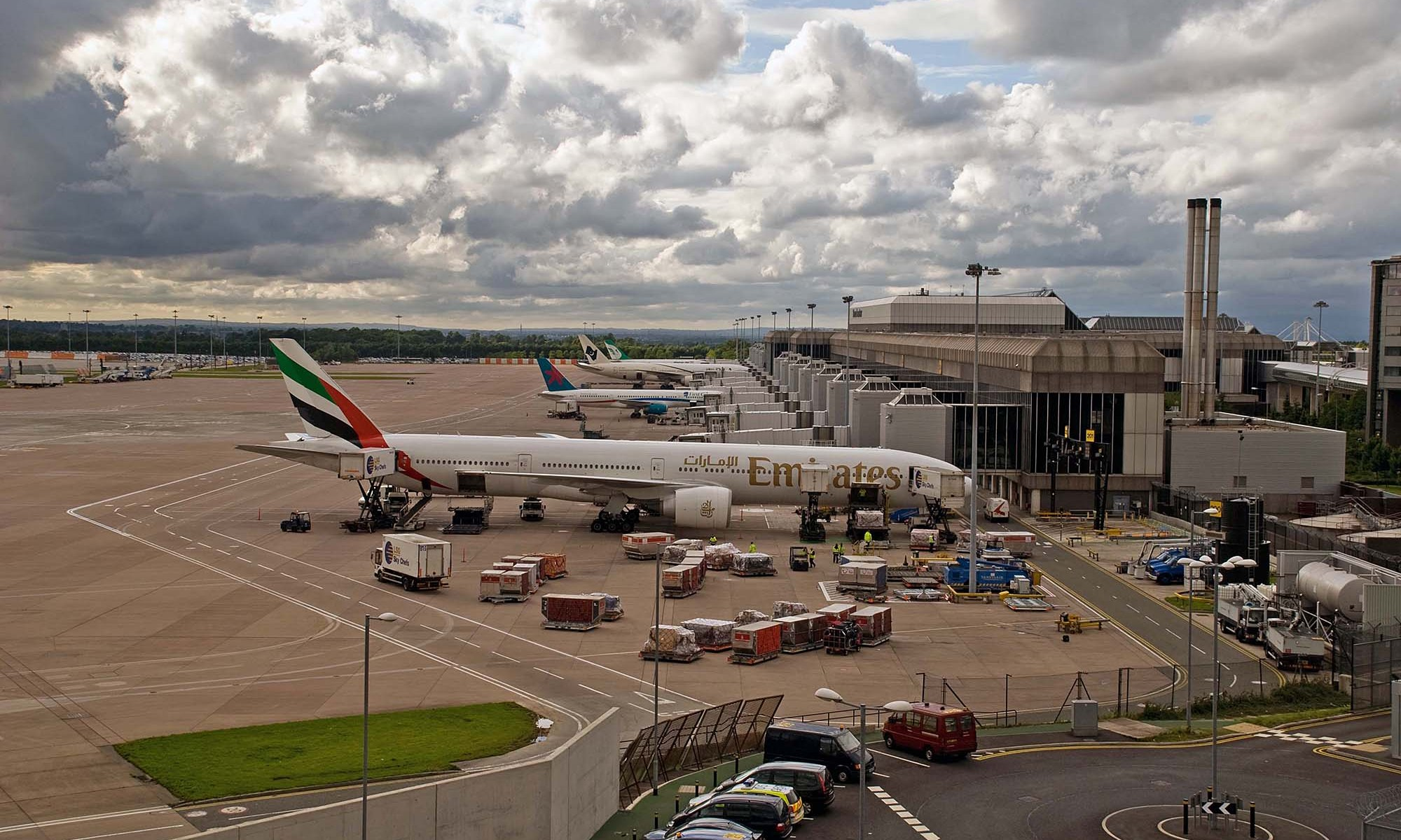 Planes at Terminal 2, Manchester Airport