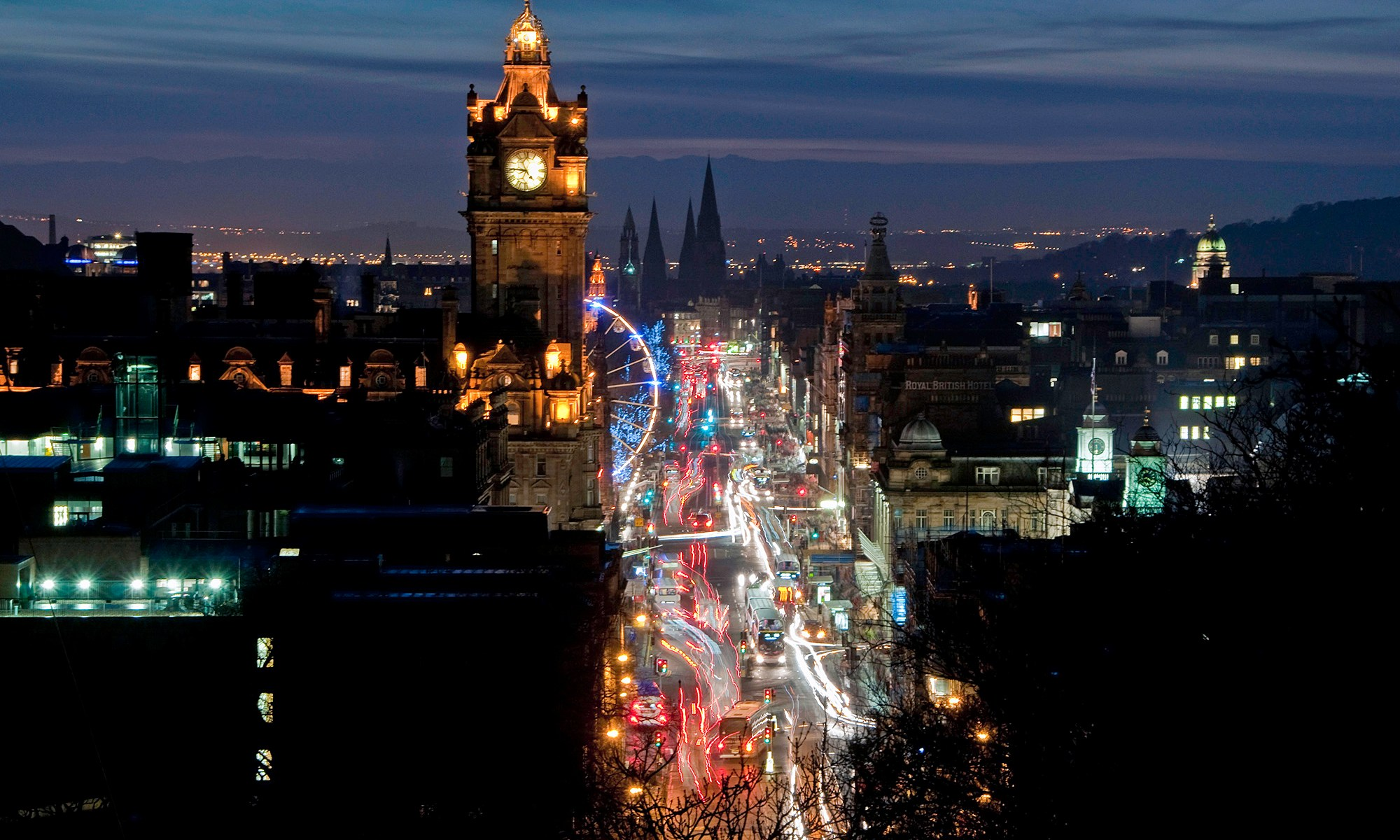 Princes Street Lights at Dusk
