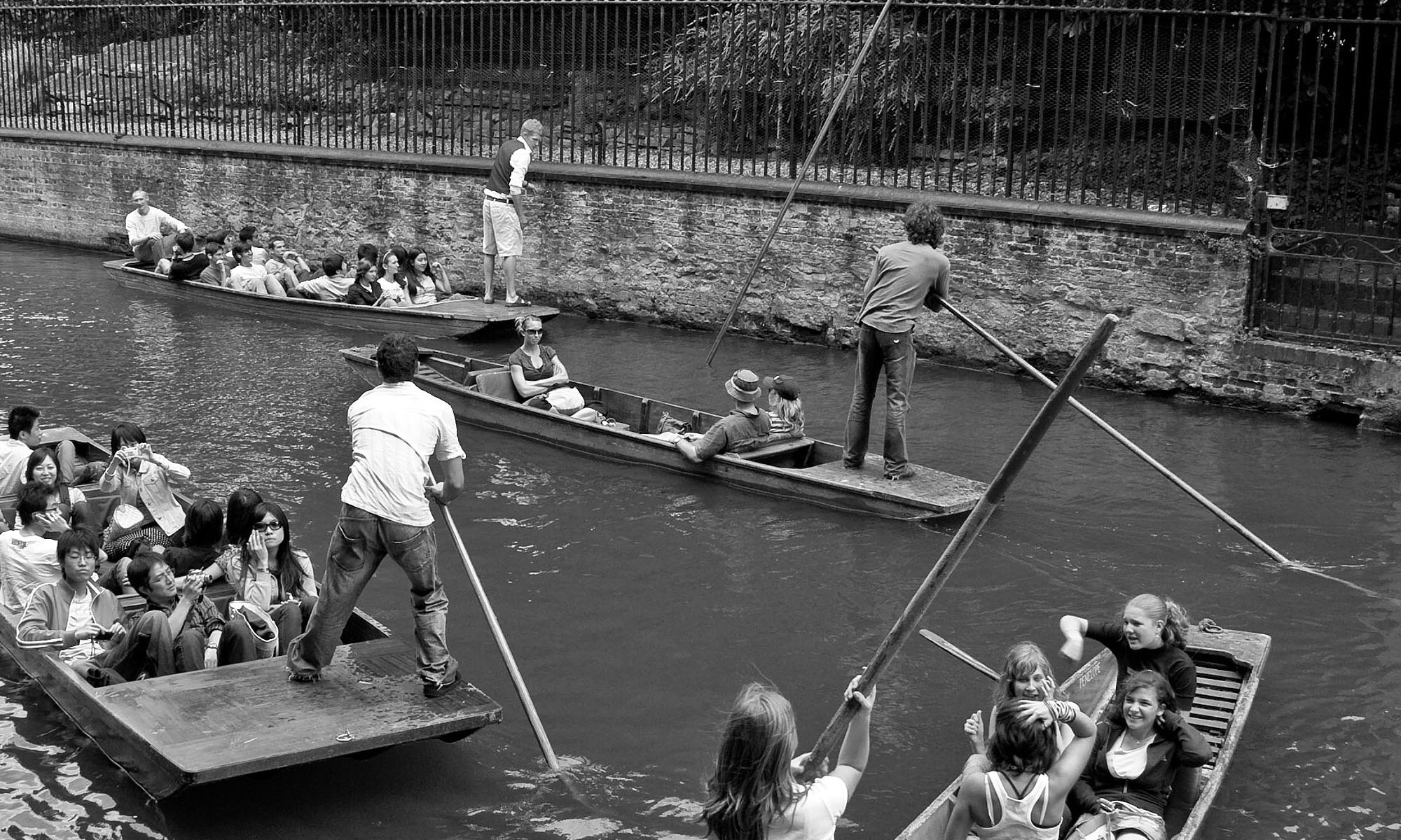 Punting Problems, River Cam, Cambridge