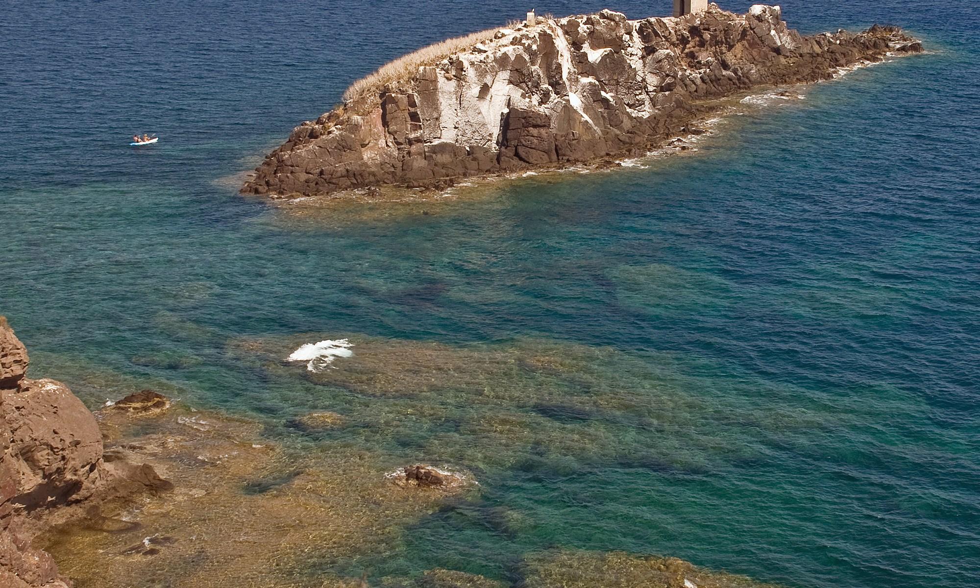 Rocky outcrop at Nora, Sardinia