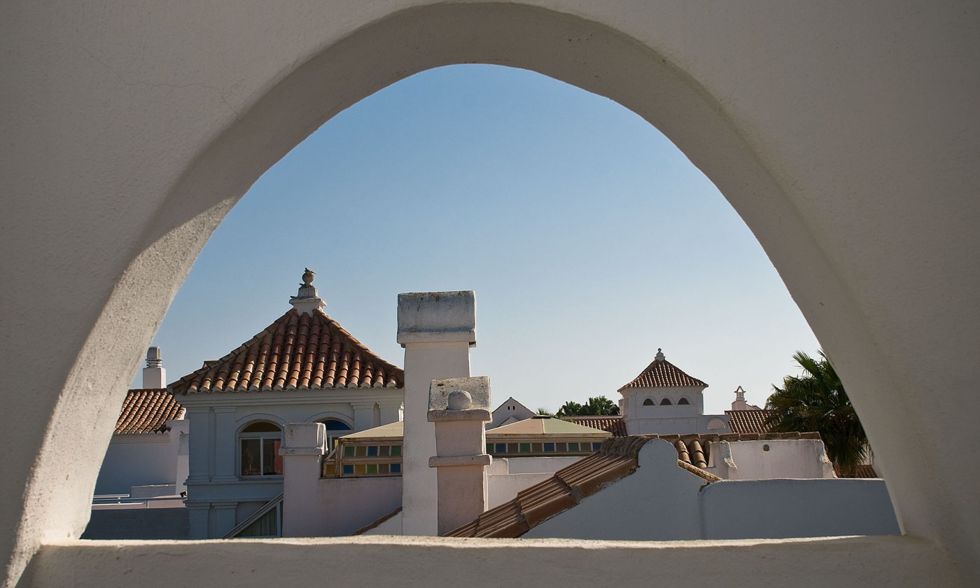 Roof top view in Almeria, Spain