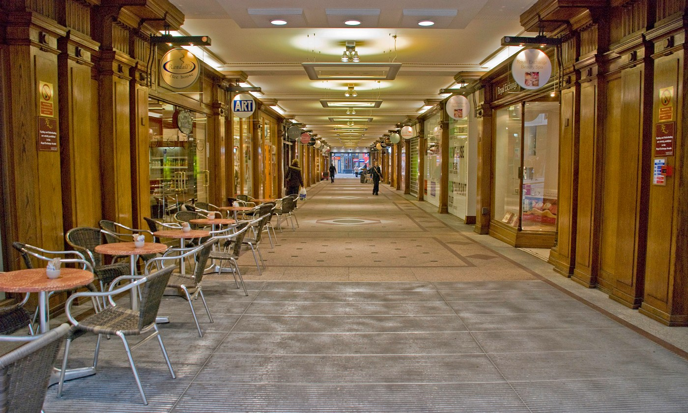 Royal Exchange Shopping Precinct in HDR