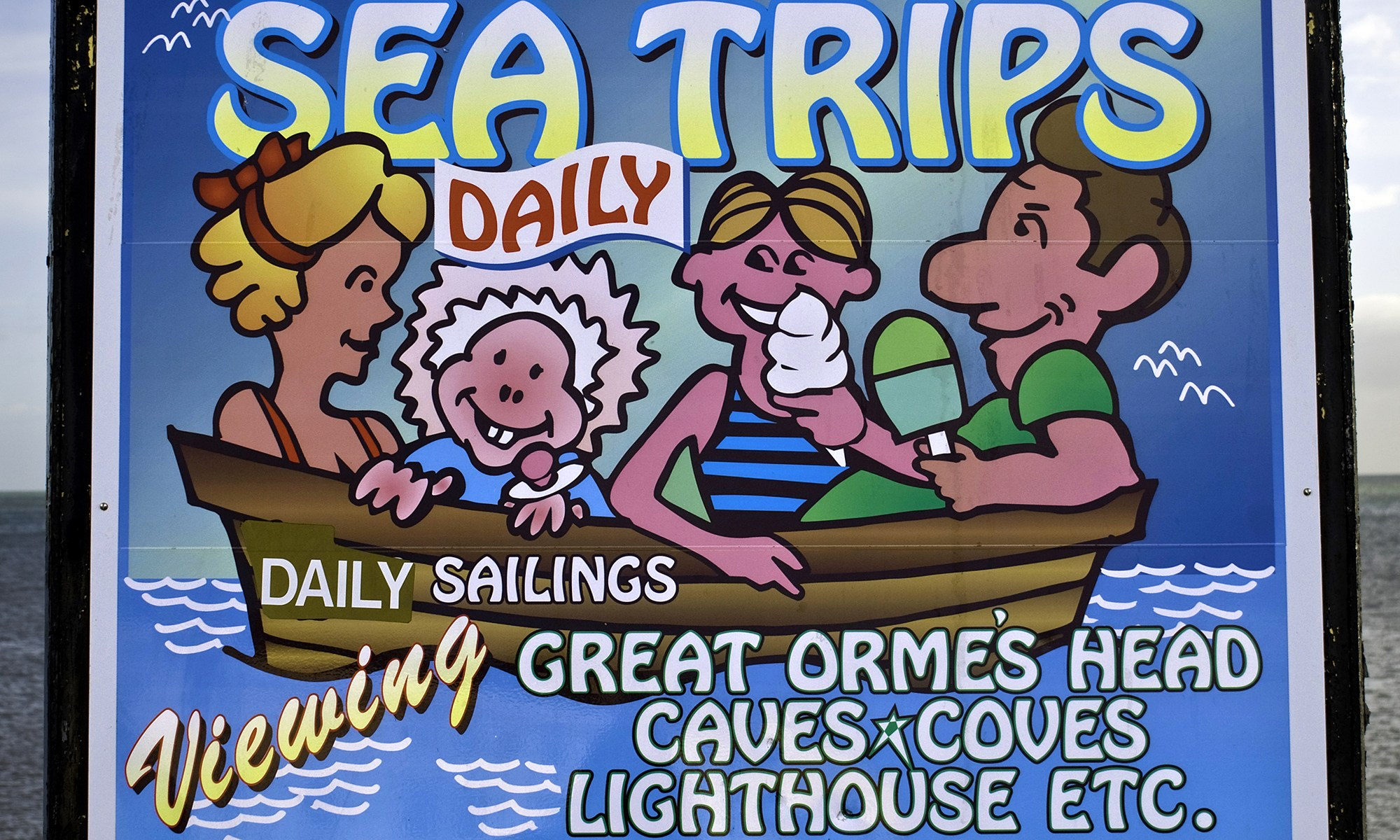 Sea Trips Sign, Llandudno, Wales