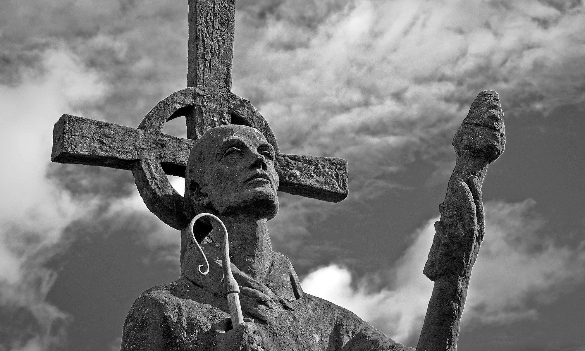 St Cuthbert of Lindisfarne Statue