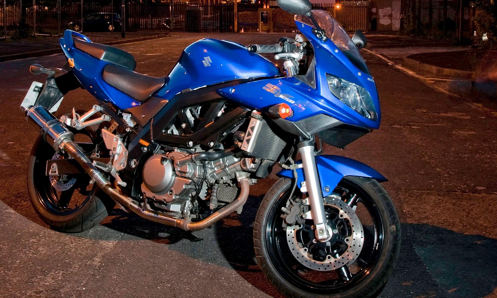SV650s Motorbike at Night
