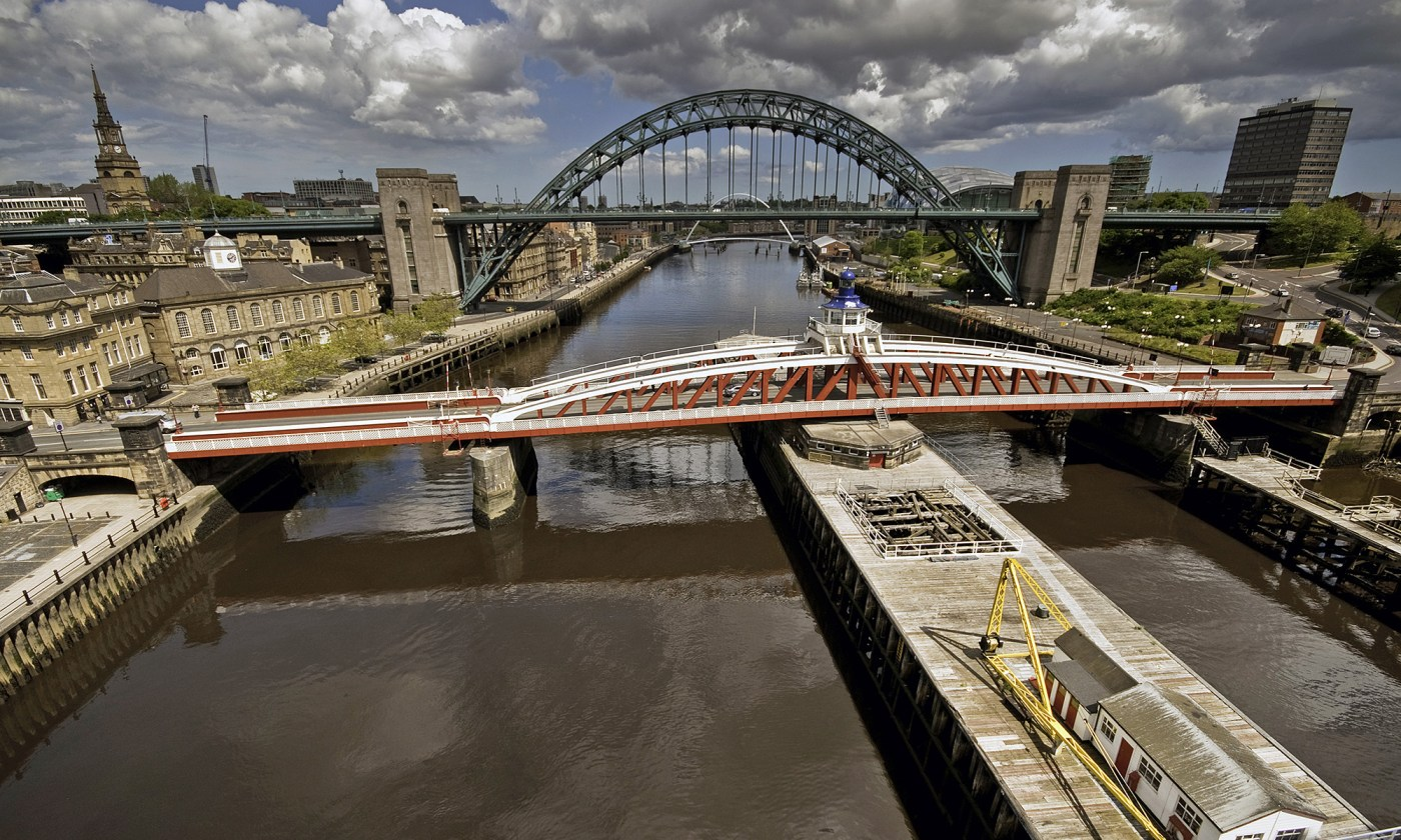Swing Bridge and Tyne Bridge, Newcastle