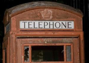 Traditional British Red Telephone Box