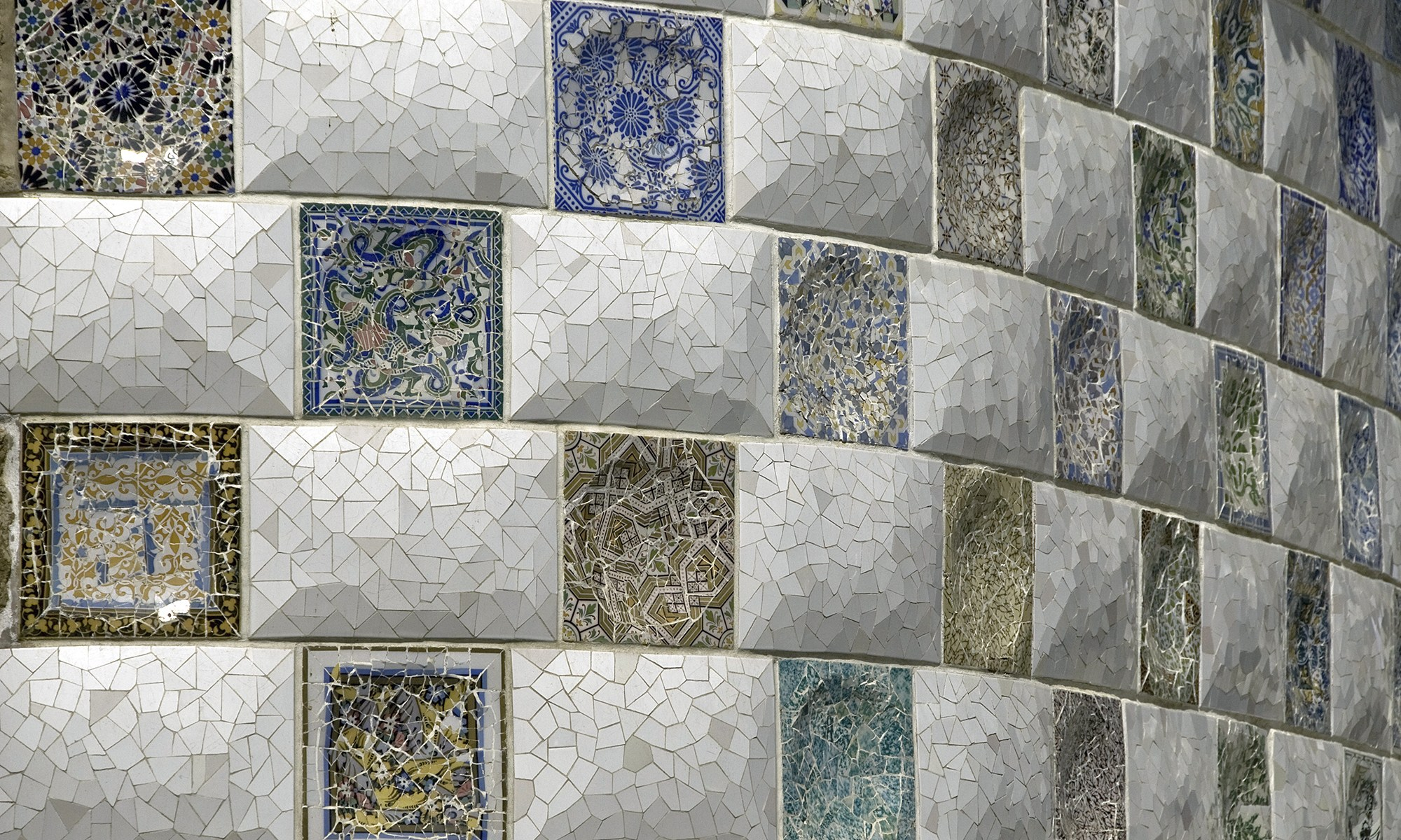 Tile Detail in Park Guell Barcelona