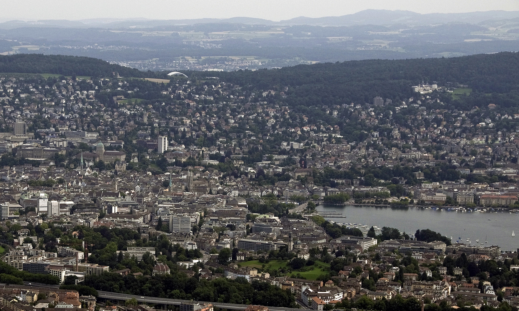 Uetilberg Tower view over Zurich